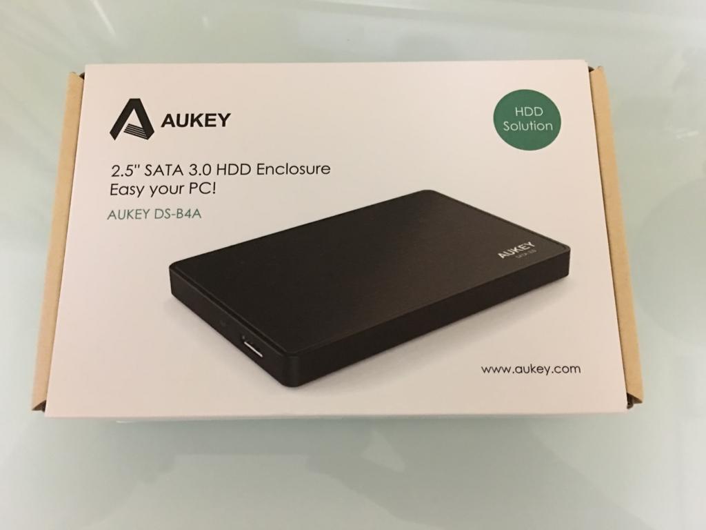 (製品レビュー)Aukey 2.5インチ HDD SSD ドライブケース SATA 3.0 DS-B4A(その1)