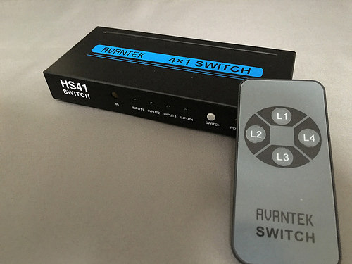 便利過ぎっ!遂に最強のHDMI切替器が現る!それがAVANTEKのHS41だっ!